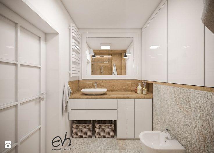 Łazienka jak w SPA - Mała łazienka w bloku bez okna, styl nowoczesny - zdjęcie od Evin