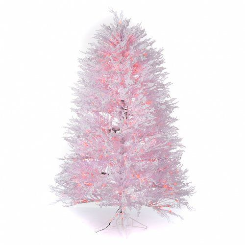 Árbol de Navidad con nieve blanco 270 cm luces rojas LED | venta online en HOLYART