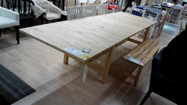 NORDEN Extendable table, birch - zoomly