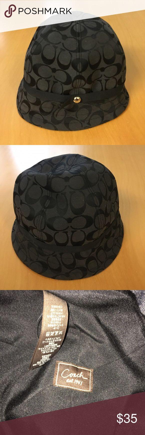 Coach black signature hat Authentic signature Coach hat in size small. Excellent condition! Coach Accessories Hats