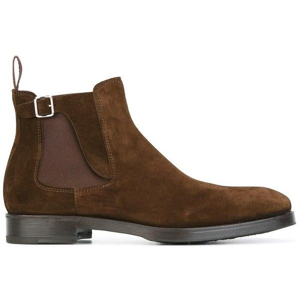Henderson Baracco buckle detailing chelsea boots ($440) ❤ liked on Polyvore featuring men's fashion, men's shoes, men's boots, brown, mens buckle boots, mens brown shoes, mens leather buckle boots, mens brown leather boots and mens leather shoes