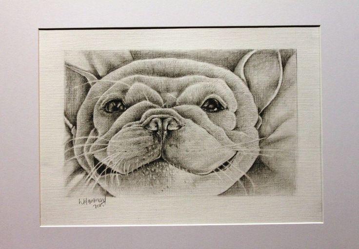 Pencil A4 drawing smiling yoda puppy 060715