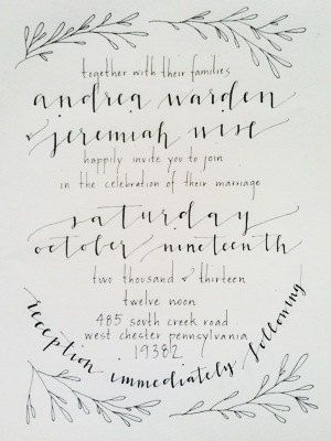 Custom Calligraphy Invitation