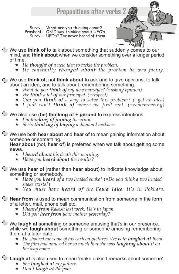 Grade 10 Grammar Lesson 44 Prepositions After Verbs 2 Grammar
