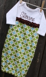 love personalized baby gowns for boys and girls on sheshemade.com