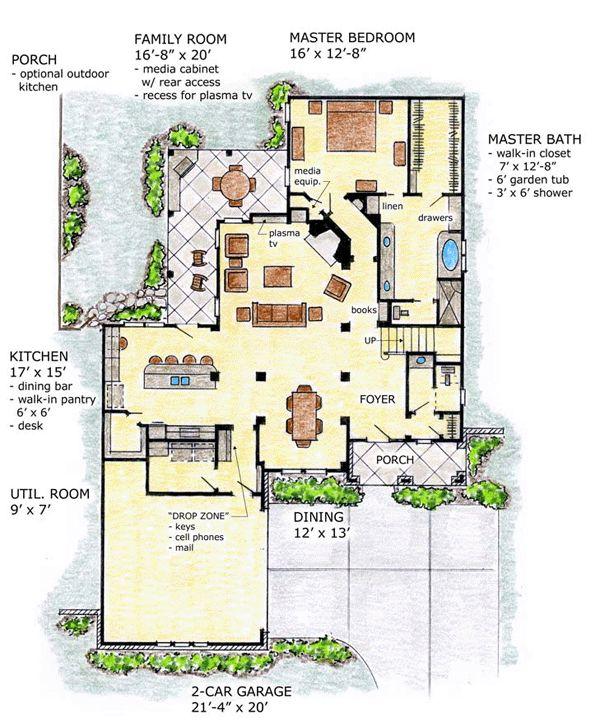 89 best images about floorplans on pinterest craftsman for Florida mediterranean house plans