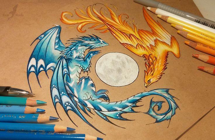 Dance of fire and water by AlviaAlcedo.deviantart.com on @DeviantArt