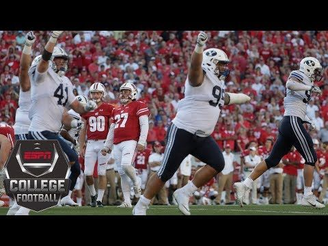 2 College Football Highlights Wisconsin Badgers Stunned By Byu