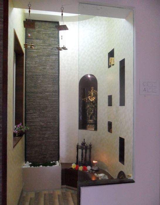 Designer Pooja Room Designs in Hall