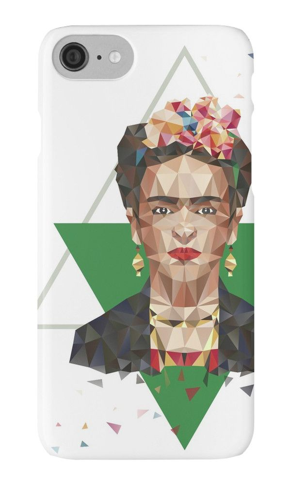 Frida II by XOOXOO  portrait, low poly  iPhone Cases & Skins  PHONE CASE FOR IPHONE 4/4S/5/5C/5S/6/6 PLUS/ 7/7 PLUS