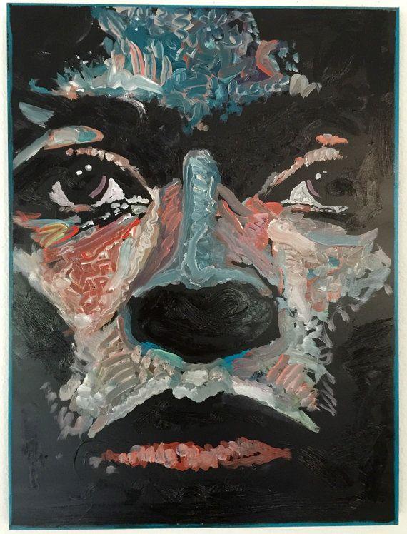 Original Oil Painting of Miles Davis by Matt Pecson
