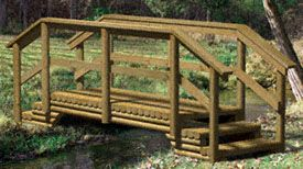 Landscape Timber Bridge Woodworking Plan
