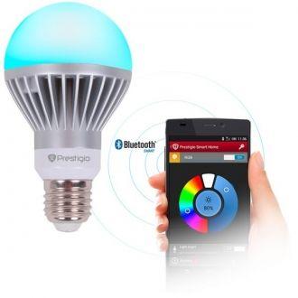 Sterowanie oświetleniem domu ze smartfona  Monochromatyczna żarówka LED z ustawianym poziomem jasności sterowana bezprzewodowo.  Dopasowanie oświetlenia  Użytkownik może zdalnie włączać i wyłączać światło oraz ustawiać jasność.  Sterowanie grupą  Żarówki można połączyć w grupy, aby jednocześnie sterować kilkoma w jednej lampie lub pomieszczeniu.