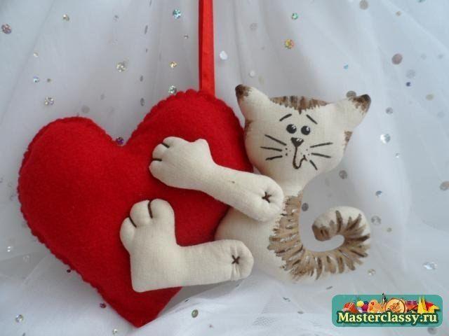 Venite a cucire ONU giocattolo gatto con ONU cuore. Toy San Valentino. Discussione Silla LiveInternet - Russo Servizi on-line Diaries