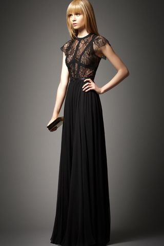Elie Saab pre-fall 2012.: Black Lace, Fashion, Elie Saab, Style, Dresses, Prom Dress, For Fall 2012, Black Dress