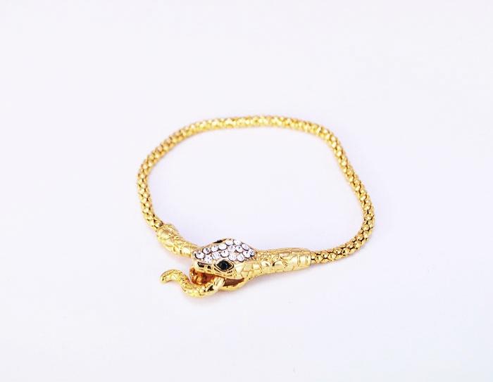 Pulseira Snake Gold :: Gisyshop