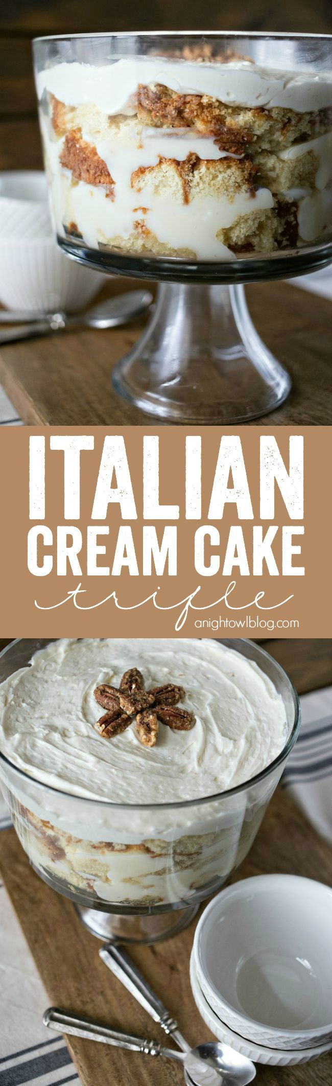 Italian Cream Cake Trifle - a delicious twist on a popular and decadent Italian dessert. | A Night Owl Blog     ᘡղbᘠ