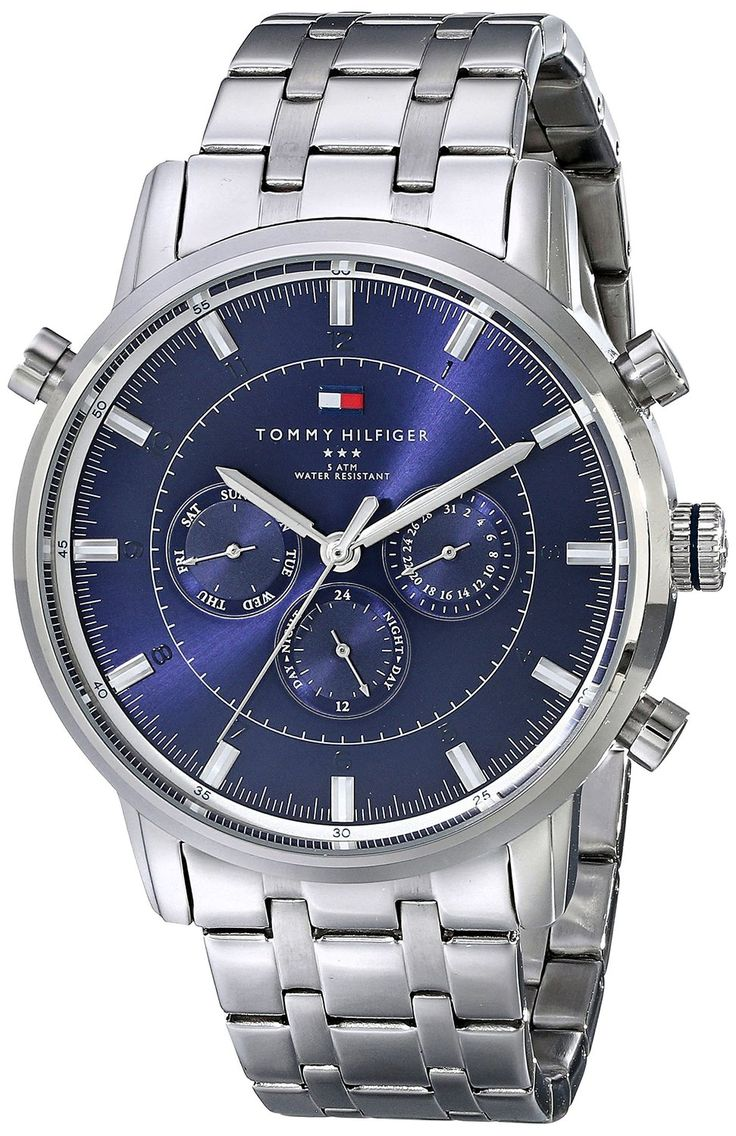 Tommy Hilfiger Men's 1790876 Sport Luxury Multi-Function Stainless Steel Watch -- Want additional info for the watch? Click on the image.