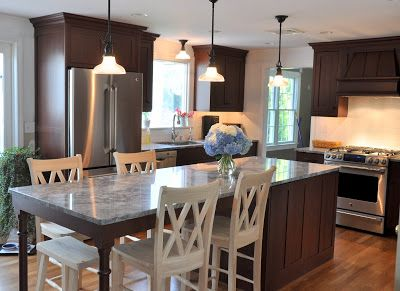 Long Kitchen Islands With Seating Island For 5 Kitchens Forum Gardenweb Pinterest And