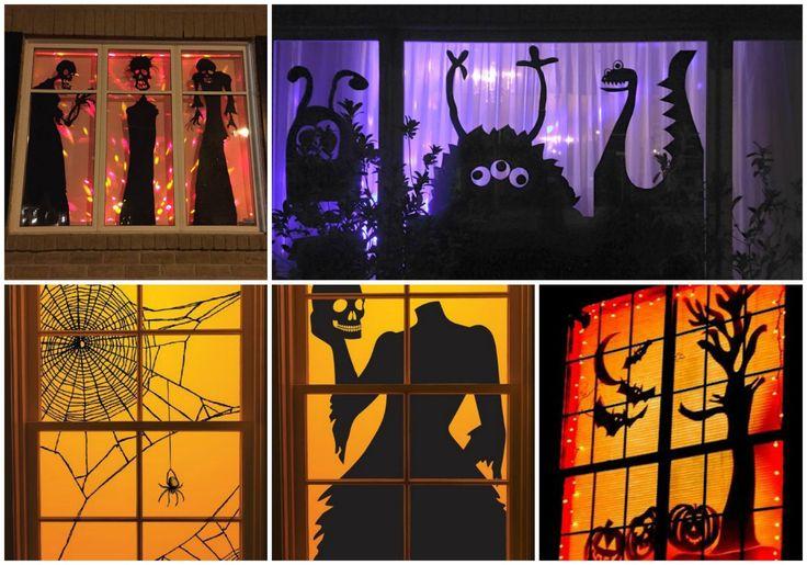 De l'inspiration pour préparer des décorations de fenêtre pour l'halloween                                                                                                                                                                                 Plus
