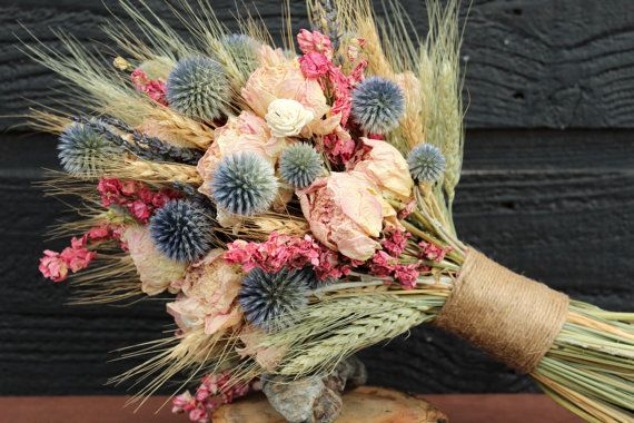 Get out, we're #obsessed with this larkspur #rustic bouquet on @Etsy  --- remember Larkspur is the birth flower for July!