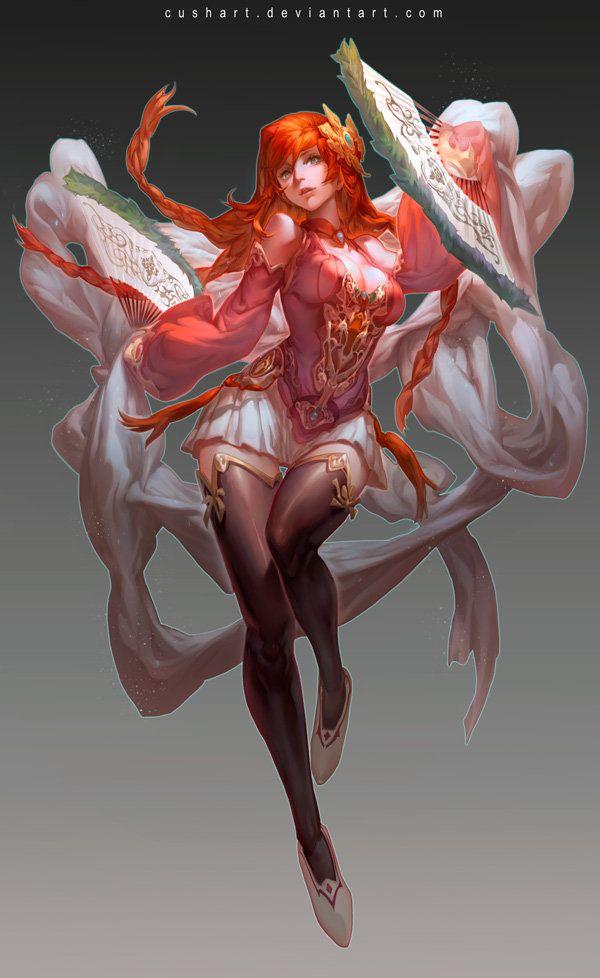 Character Design-DiaoChan, Krenz Cushart on ArtStation at https://www.artstation.com/artwork/8Bz46