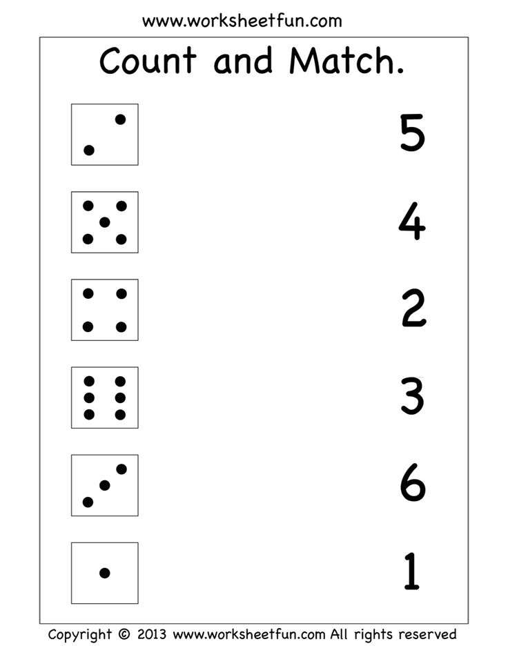 Count and match worksheet Preschool worksheets free