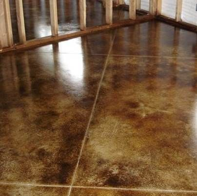Stained concrete floors photos interior stained concrete for Stained concrete inside house