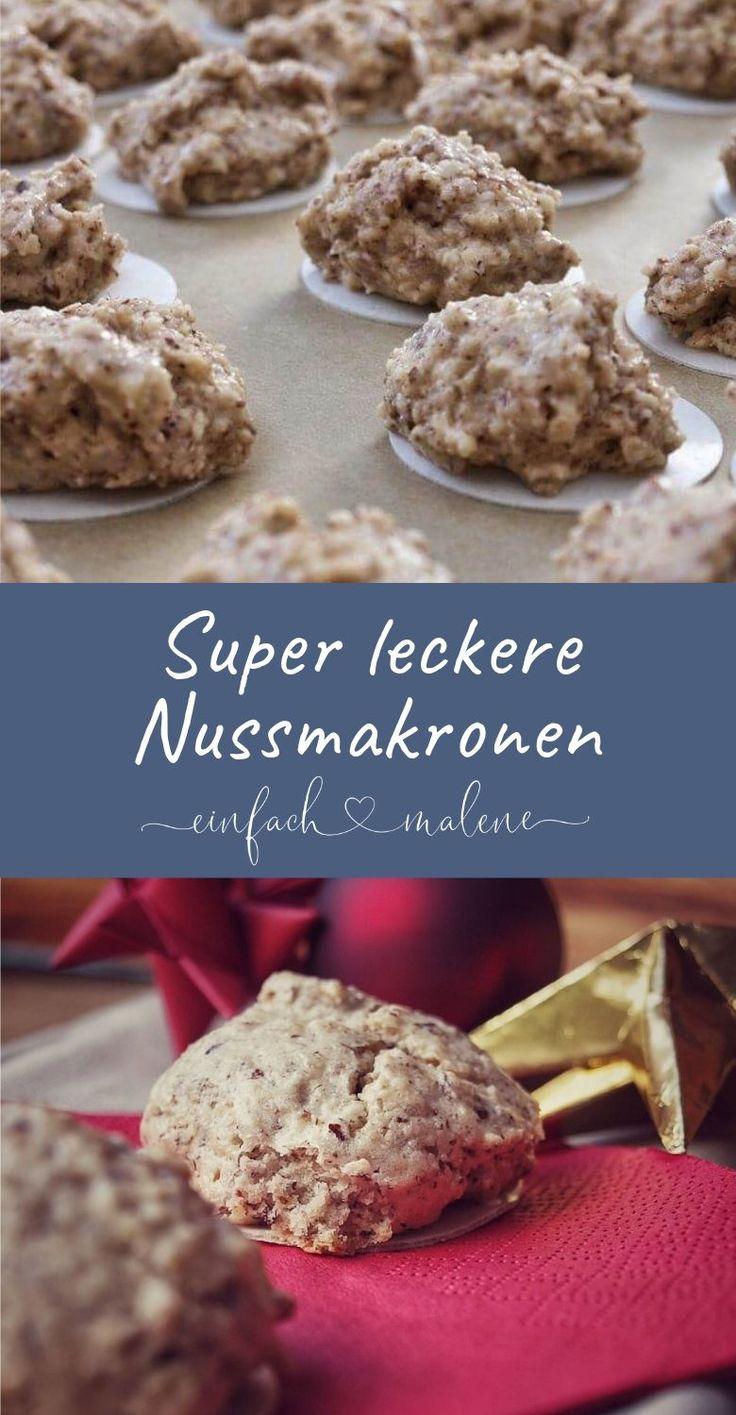 Nussmakronen mit Mandeln – viele Kekse werden nur mit Eigelb gebacken – aber woh …