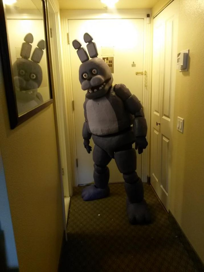 Five nights at freddys costumes.. I want to make this!, imagine seeing this walking down the street on halloween.