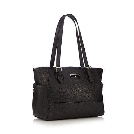 The Collection Black three section shoulder bag | Debenhams