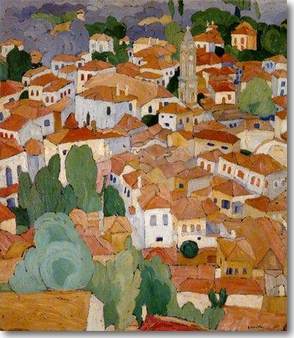 Παπαλουκάς Σπύρος-Κόκκινες στέγες στη Λέσβο, 1925