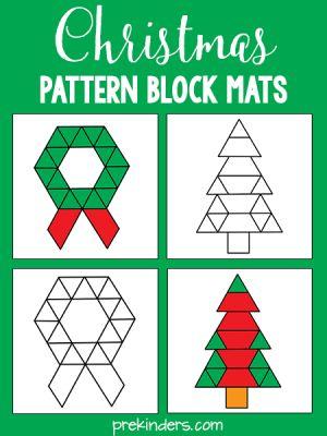 Christmas Pattern Blocks: Free Printables