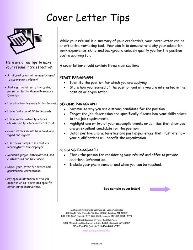 Format ...  An Example Of A Cover Letter For A Resume