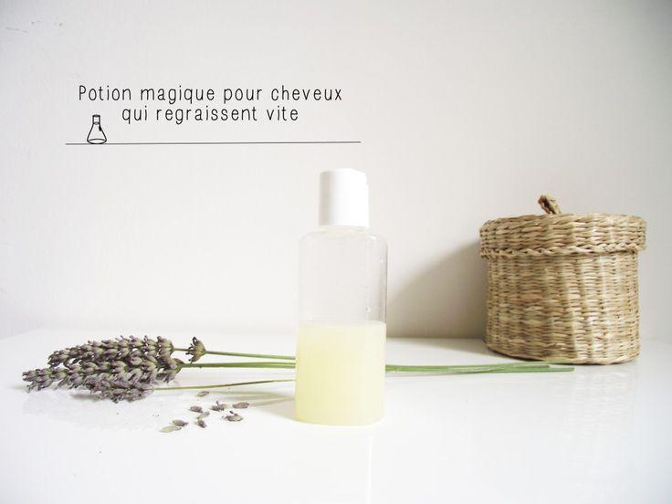 Potion magique pour les cheveux gras! 1 citron pressé + 6 gouttes d'h.e. de lavande Mélanger avec mon shampoing