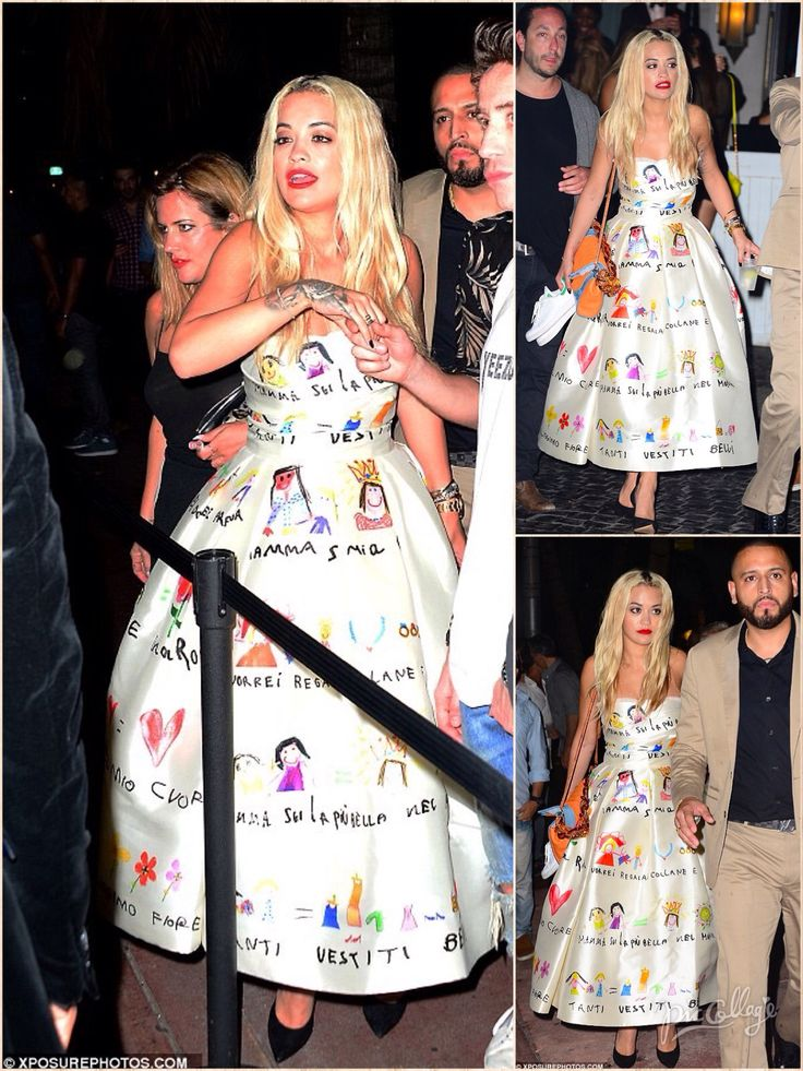 She jetted to Miami this week with her celeb pals to see out in 2015 with a raucous holiday. And while her holiday wardrobe has so far consisted of a sting of skimpy bikinis, for Thursday night's New Year's Eve celebrations Rita Ora pulled out all the stops. The X Factor judge wowed in a statement satin dress from one of her favourite fashion houses, Dolce & Gabbana, as she hopped between Soho House in the city and infamous South Beach club Twist with pals Nick Grimshaw and Caroline Flack.