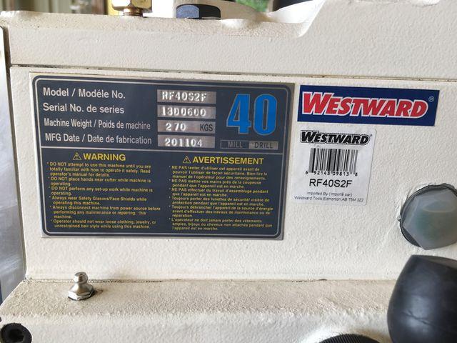 RF40S2F WESTWARD MILLING MACHINE UNUSED