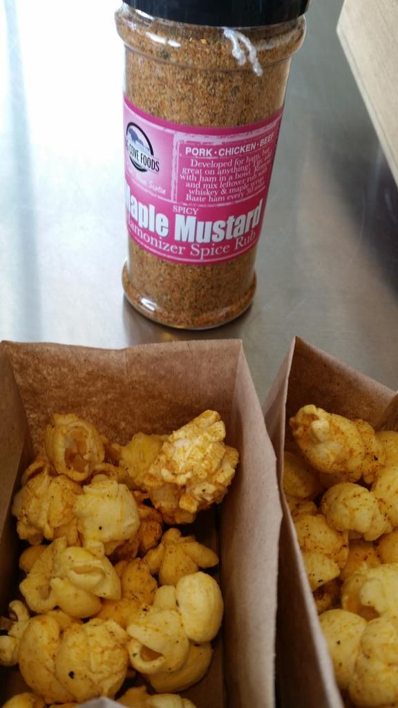 Maple Mustard Popcorn from Big Cove Foods.
