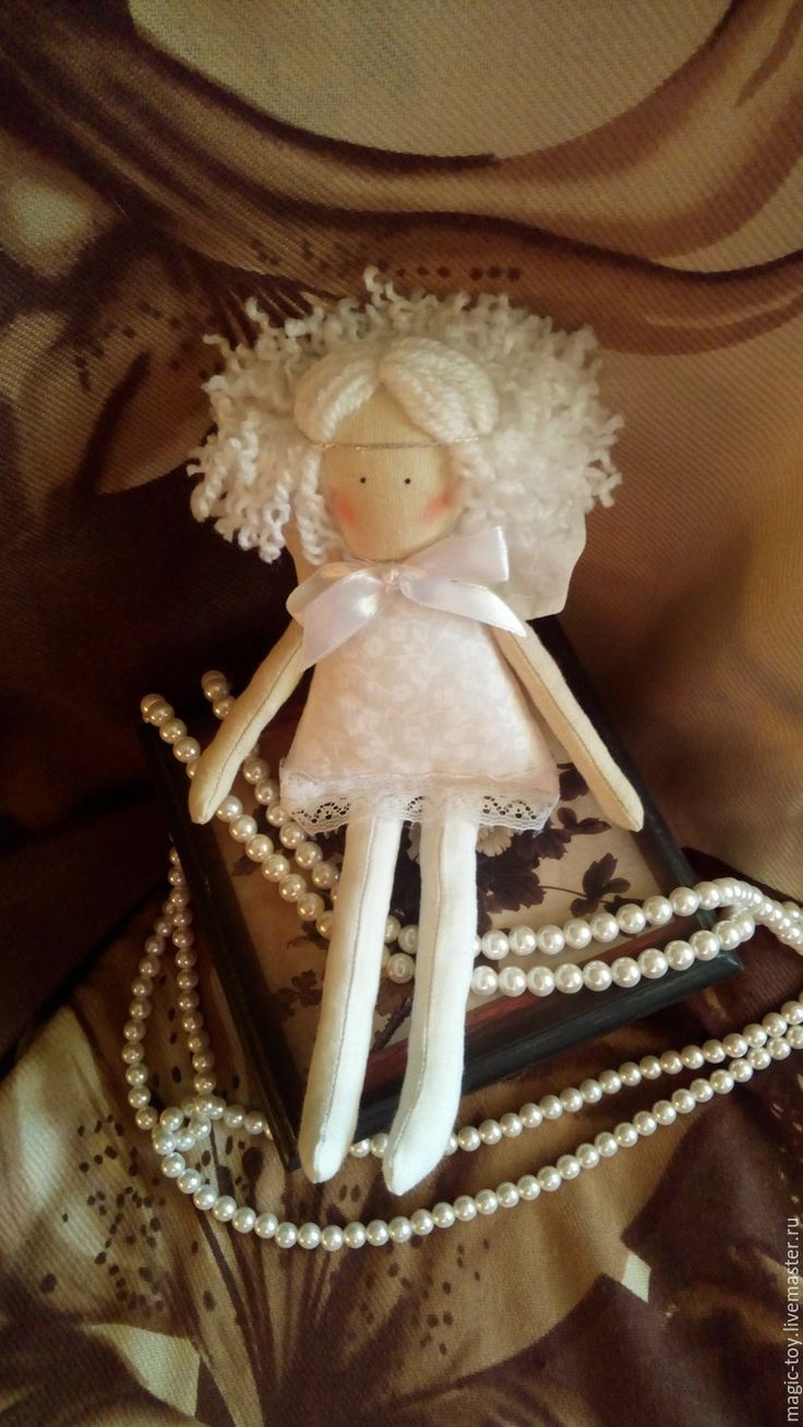 Купить Ангелок - белый, ангел, ангелочек, текстильный ангел, кукла Тильда, кукла ручной работы
