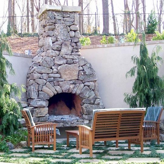 Firerock Outdoor Fireplace Kit Outdoor Fireplaces