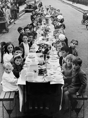 Post pics of street Parties, Celebrating end of WWII