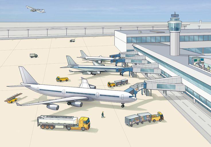 Airport illustration - Carr Kamasa Design - London