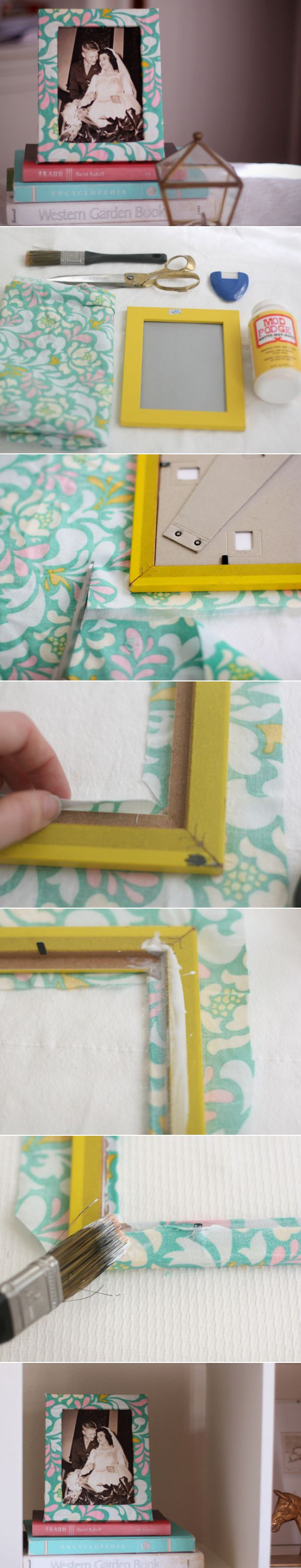 DIY: Fabric Covered Frame   From momtastic