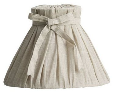 Bow Lamps Come Grey, Dusty Mauve and Natural Linen in Two Sizes; Small - £49.00 and Large - £57.00 - Hicks and Hicks