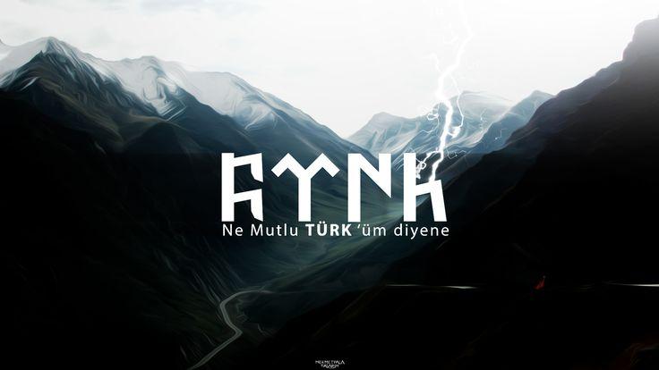 Türkçü tasarım tarafından yapılan Sade Göktürk dilinde türk yazısı. Çözünürlük: 2560×1600 Full HD Kategori: Türkçü…