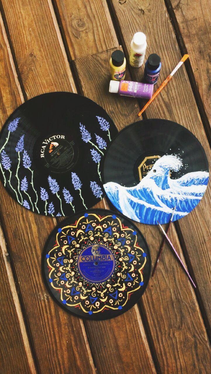 Hausdekor Wohnung Dekoration Wohnzimmer Wohnideen Schlafzimmer Einrichten Hausdekoration Vinyl Record Art Vinyl Record Art Ideas Vinyl Art Paint
