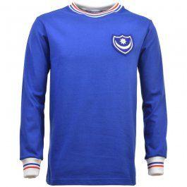 Portsmouth 1960s - 1970s Retro Football Shirt