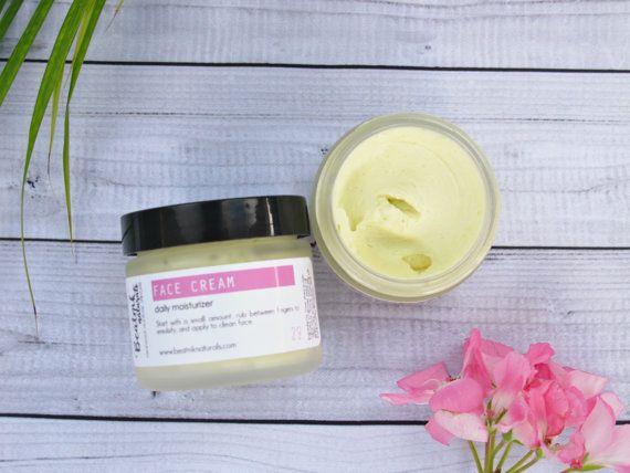 Organic Face Cream  Organic Moisturizer  by BeatnikNaturals