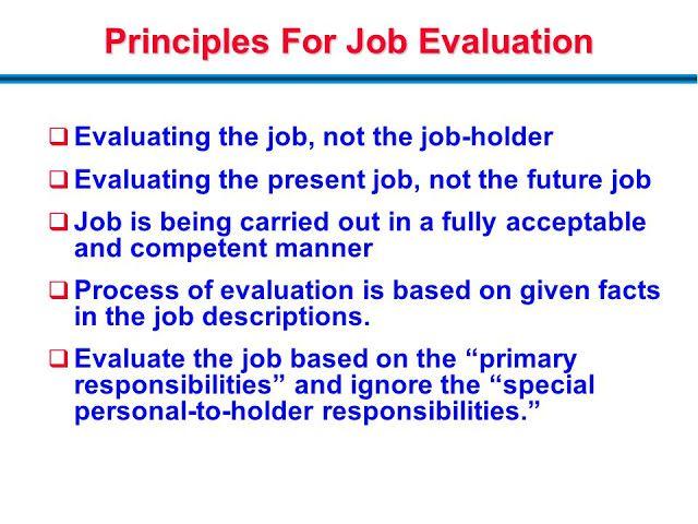 What Are The Principles Of Job Evaluation ما هي مبادئ تقييم الوظيفة Future Jobs Principles Job