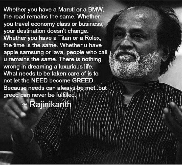 #Rajinikanth #Readthinkandshare #Thoughtoftheday #Bestone #Foodforthought
